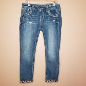 Miss Me Signature Cuffed Skinny Jeans